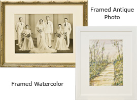Framed Antique Photo & Framed Watercolor