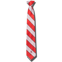 Donegal Bay Bucky Badger Striped Tie (Red/White)