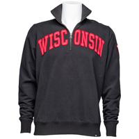 '47 Brand Wisconsin Badgers ¼ Zip Sweatshirt (Black)