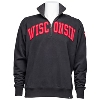'47 Brand Wisconsin Badgers ¼ Zip Sweatshirt (Black) thumbnail