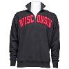 '47 Brand Wisconsin Badgers ¼ Zip Sweatshirt (Black) thumbnail