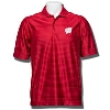 Antigua Illusion Wisconsin Polo (Dark Red)