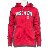 Antigua Women's Signature Wisconsin Full Zip Hood (Red) *