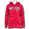 Antigua Women's Signature Wisconsin Full Zip Hood (Red) *