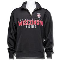 JanSport University of Wisconsin ¼ Zip Sweatshirt (Black)*