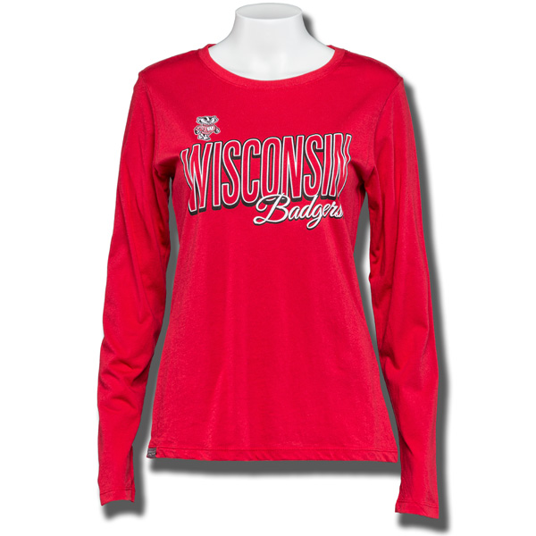 JanSport Women's WI Badgers Long Sleeve T-Shirt (Red) | University ...