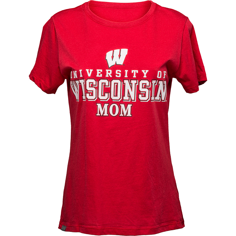 Red wisconsin mom t shirt university book store for University of wisconsin t shirts