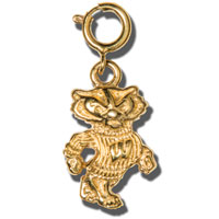 Dayna U Gold Plated Bucky Badger Charm