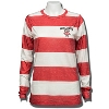 League Wisconsin Badger Women's Striped Long Sleeve (R/W)