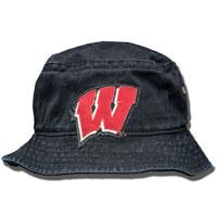 Legacy Wisconsin Motion W Bucket Hat (Black)