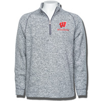 Champion Wisconsin Fleece ¼ Zip Sweater (Gray) *