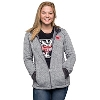 Champion Women's Wisconsin Badger Full Zip (Gray)