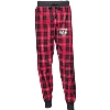 Boxercraft Women's Bucky Badger Flannel Joggers (Red/Black)