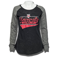 Boxercraft Womens University of Wisconsin Long Sleeve (Blk)