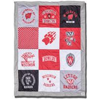 League Wisconsin Badger Patch Blanket (Multi)