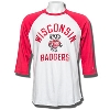 League Wisconsin Badgers Baseball T-Shirt (Red/White)