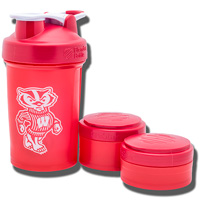 Nordic ProStak Bucky Badger Blender Bottle (Red)