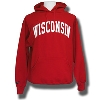 JanSport Hooded Sweatshirt with Twill Wisconsin (Red) 3X