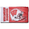 Sewing Concepts Wisconsin Badgers Football Flag (Red/White)*
