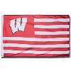 Sewing Concepts Wisconsin Badgers Striped Flag (Red/White)