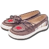 Jardine Women's Wisconsin Badgers Boat Shoes (Brown Plaid) *