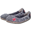 Jardine Women's Wisconsin Badgers Ballet Flats (Black) *