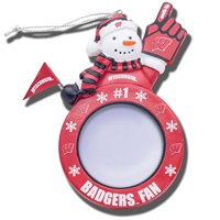 Boelter Brand Wisconsin Badgers Frame Ornament
