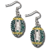 Card Emporium Football Earrings (Green/Gold)*