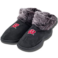 Comfy Feet Wisconsin Badger Boot (Black)