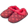 Comfy Feet Chevron Wisconsin Badger Slippers (Red)