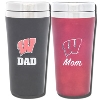 Fanatic Group Wisconsin Mom and Dad Tumbler Set
