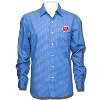 Antigua Wisconsin Badgers Division Button Down (Blue Plaid)*
