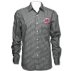 Antigua Wisconsin Badgers Division Button Down (Black Plaid)