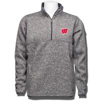 Antigua Wisconsin W ¼ Zip Knit Sweater (Gray)
