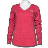 Antigua Women's Bucky Badger Long Sleeve T-Shirt (Red)