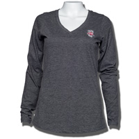 Antigua Women's Bucky Badger Long Sleeve T-Shirt (Charcoal)