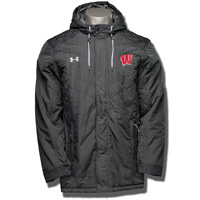 Under Armour Wisconsin Elemental CGI Parka (Black) 3X *