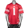 Under Armour WI Replica Football Jersey #1 (Red) 3X/4X * thumbnail
