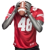Under Armour WI Replica Football Jersey #48 (Red) 3X/4X * thumbnail