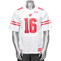 Under Armour WI Replica Football Jersey #16 (White) 3X/4X *