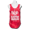 Under Armour Women's Bucky Badger Fusion Tank (Red) *