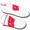 Under Armour Wisconsin Badger No Show Socks (White)