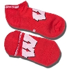 Under Armour Wisconsin Badger No Show Socks (Red)