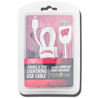 US Digital Media Wisconsin Badgers Lightning USB Cable