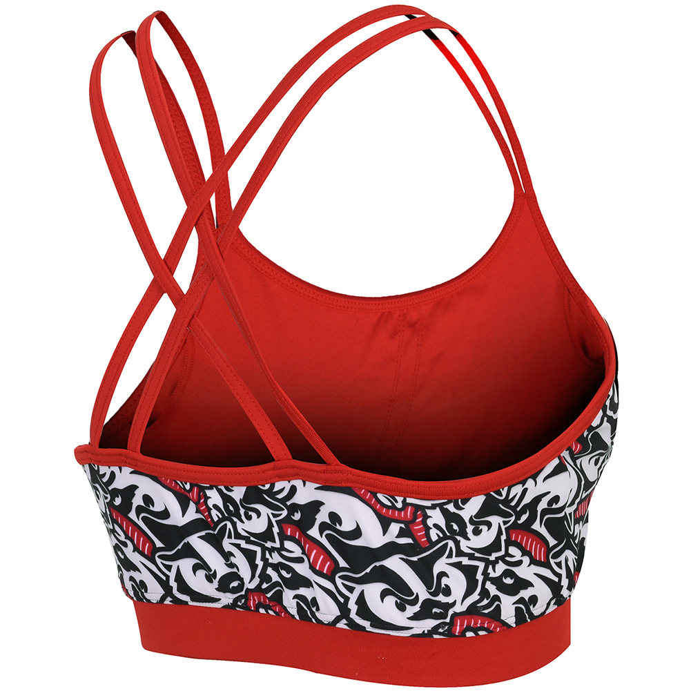Zoozatz Bucky Badger Sports Bra Multi Thumbnail