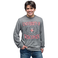 JanSport Bucky Badger Long Sleeve T-Shirt (Graphite) *