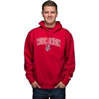Blue 84 Wisconsin Bucky Badger Hooded Sweatshirt (Red)