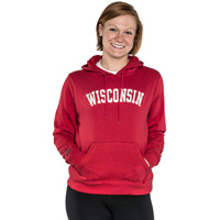 JanSport Women's Wisconsin Hooded Sweatshirt (Red) *