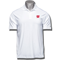 Under Armour Wisconsin Motion W Polo (White) 3X