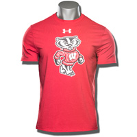 Under Armour Bucky Badger Charged Cotton Tee (Red) 3X